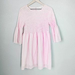Dresses & Skirts - White and Pink Gingham Bell Sleeve Dress Size S